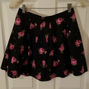 Forever 21 Rose Print Skirt